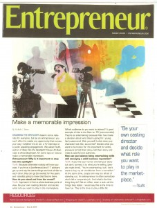 Entrepreneur Magazine Tsufit Interview
