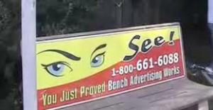 advertising bench