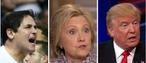Mark Cuban with Hillary and Trump